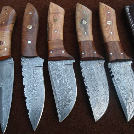 custom knives with wood handles