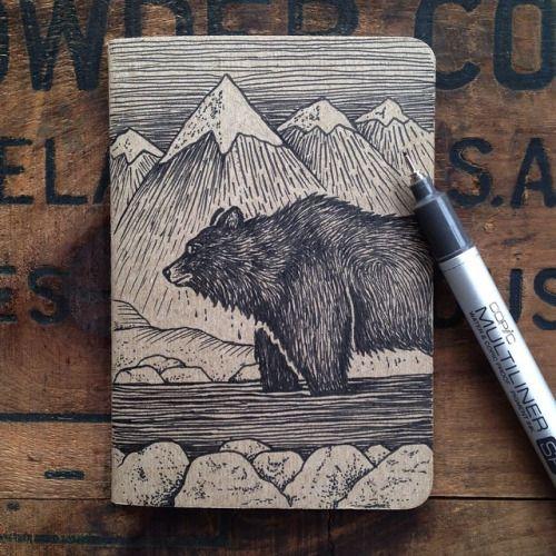 bear on notebook