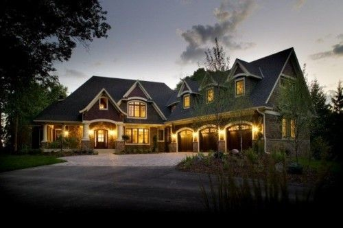 large home with three car garage