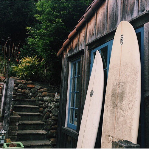 old surfboards