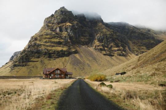 private road to cabin