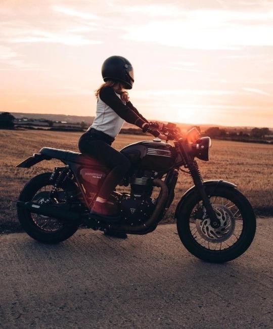 women on motorcycle