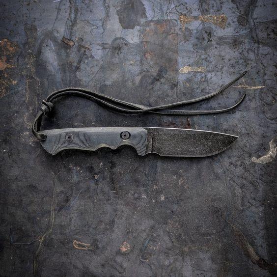 custom knife with gray handle