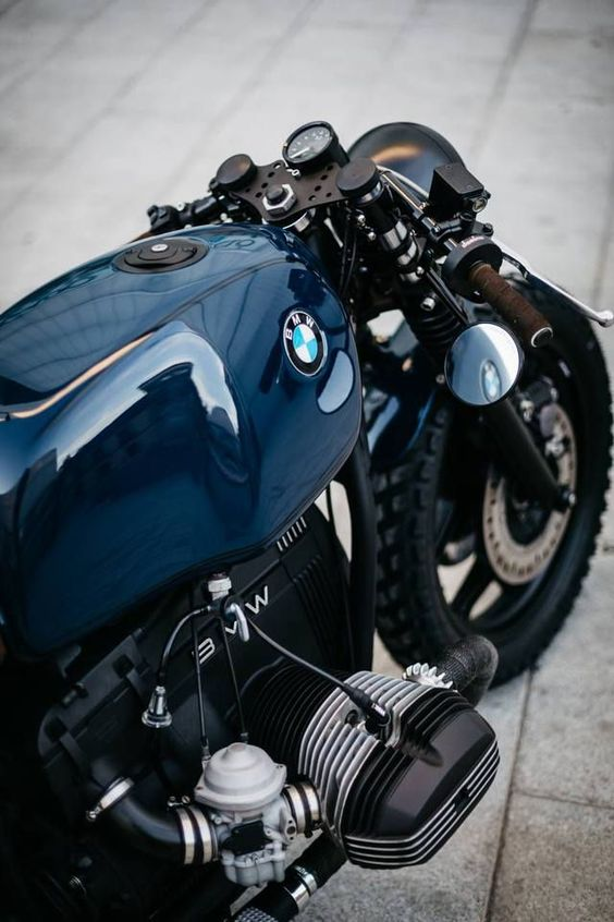blue bmw motorcycle