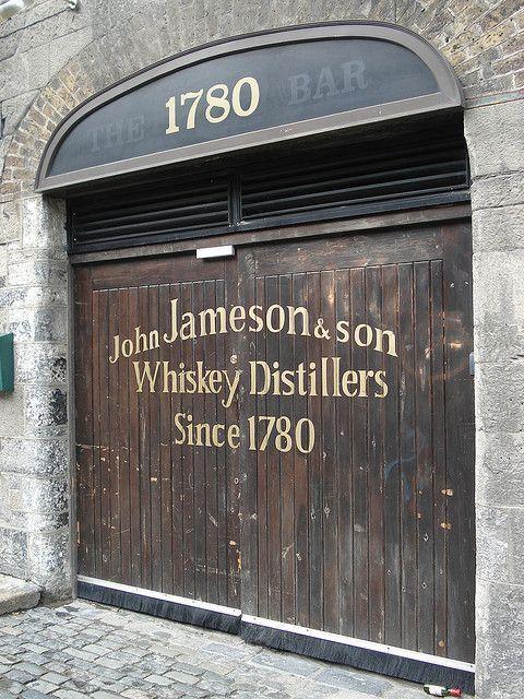 jameson whiskey door