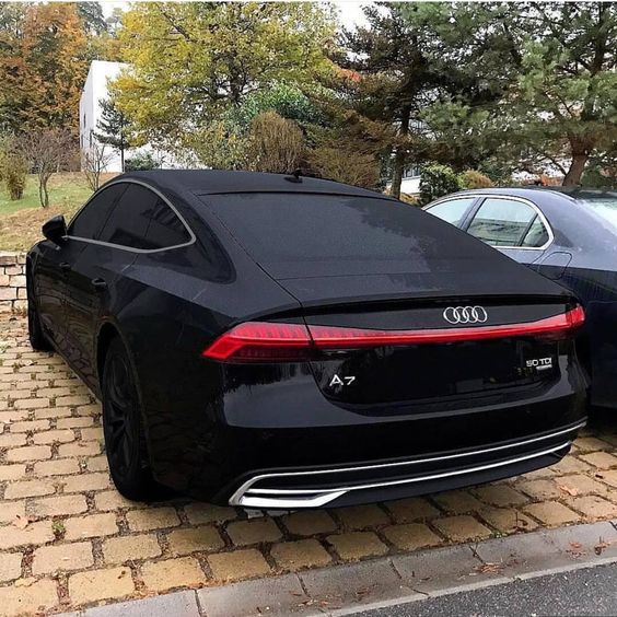 blacked out audi