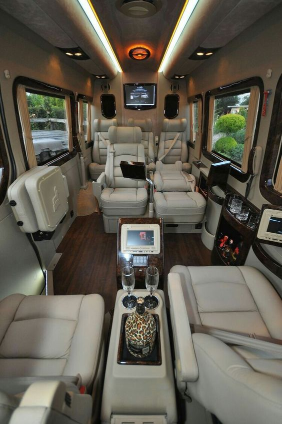 inside luxury van limo
