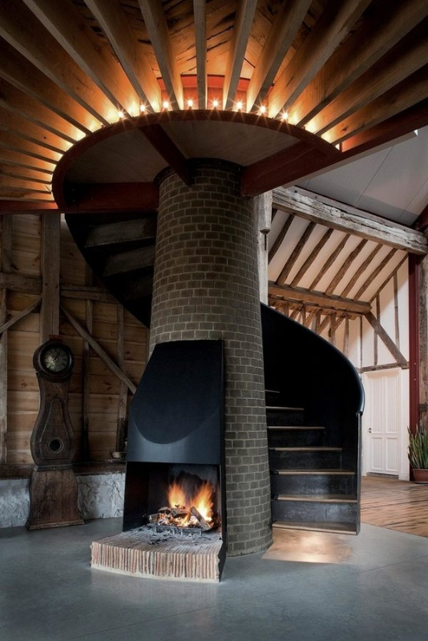 manly fireplace