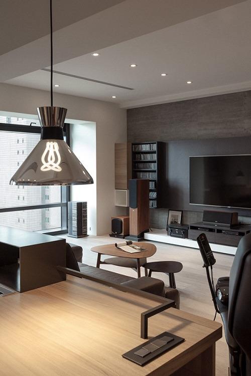 modern manly living room