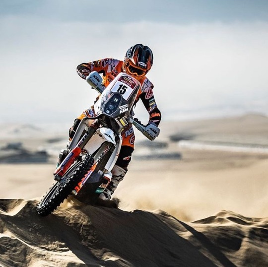 motorcycle on sand dune