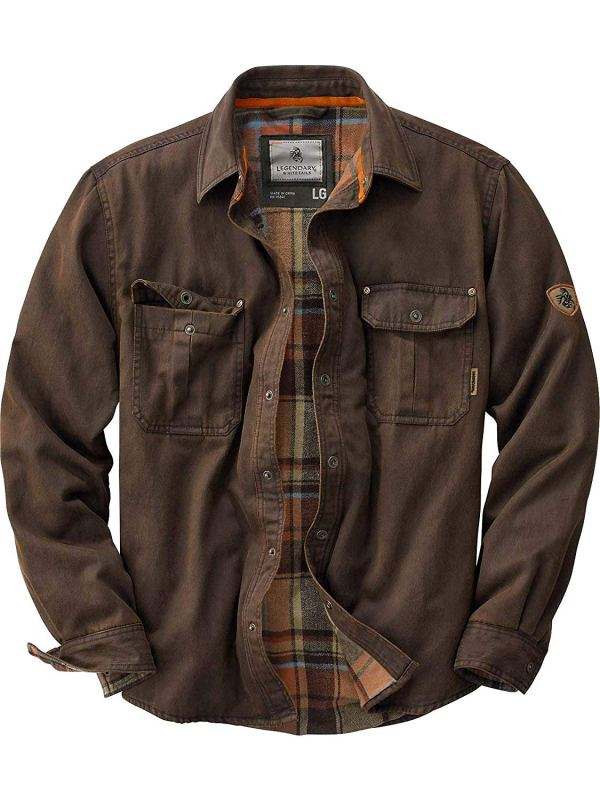 Mens Journeyman Rugged Shirt Jacket Tobacco