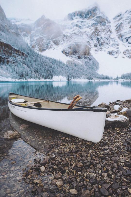 canoe mountain lake