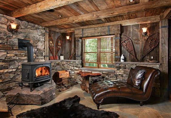 manly cabin interior