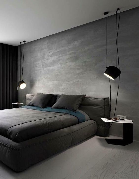 modern manly bedroom design
