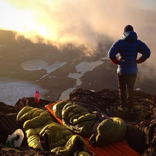 mountain top campsite