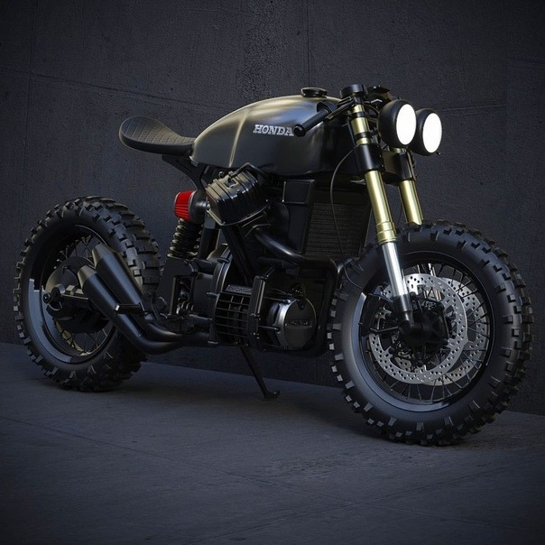 tough looking honda scrambler