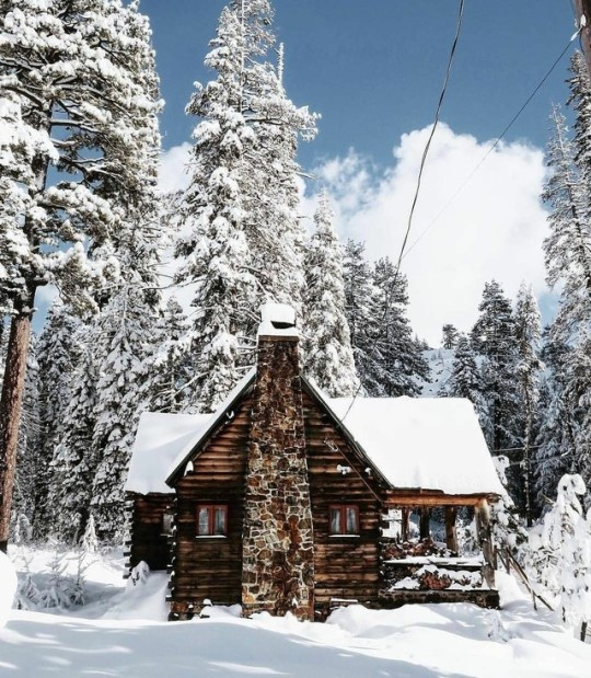 cabin in winter