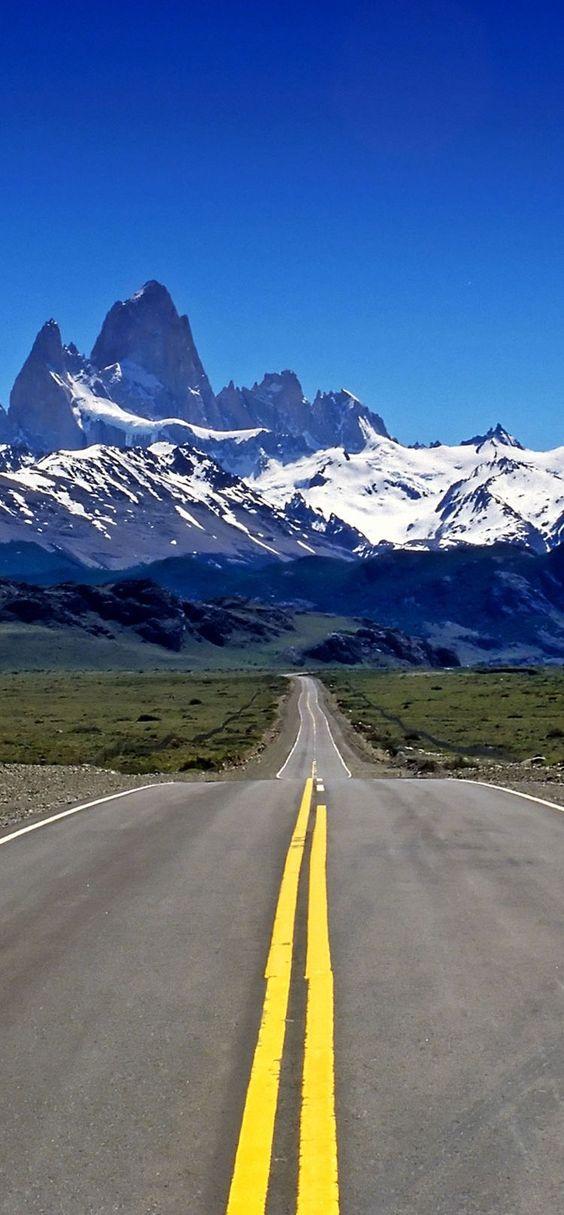 long mountain road