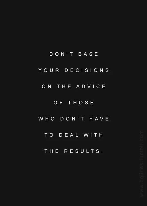 quote about decisions