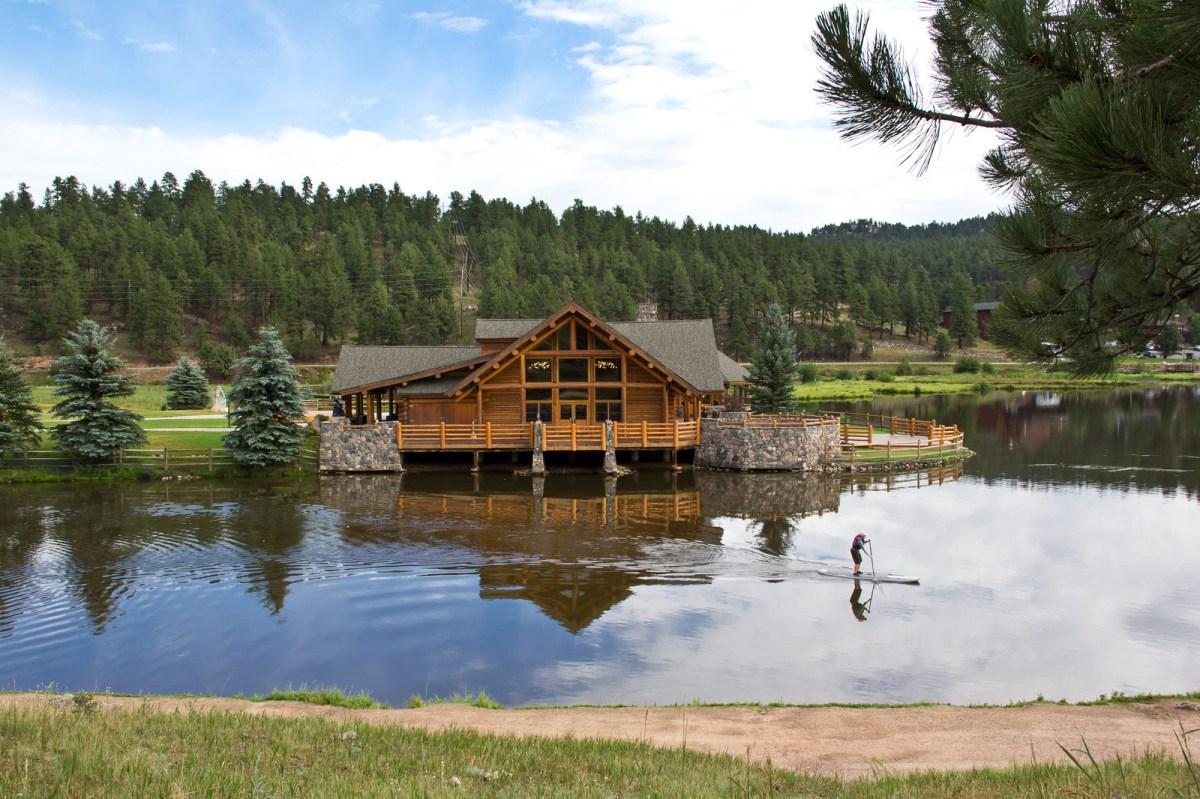 Evergreen Lake House in Summer