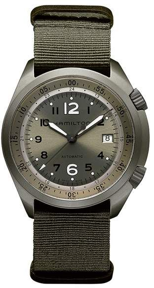Hamilton Mens Khaki Pilot Pioneer Automatic Watch 41mm