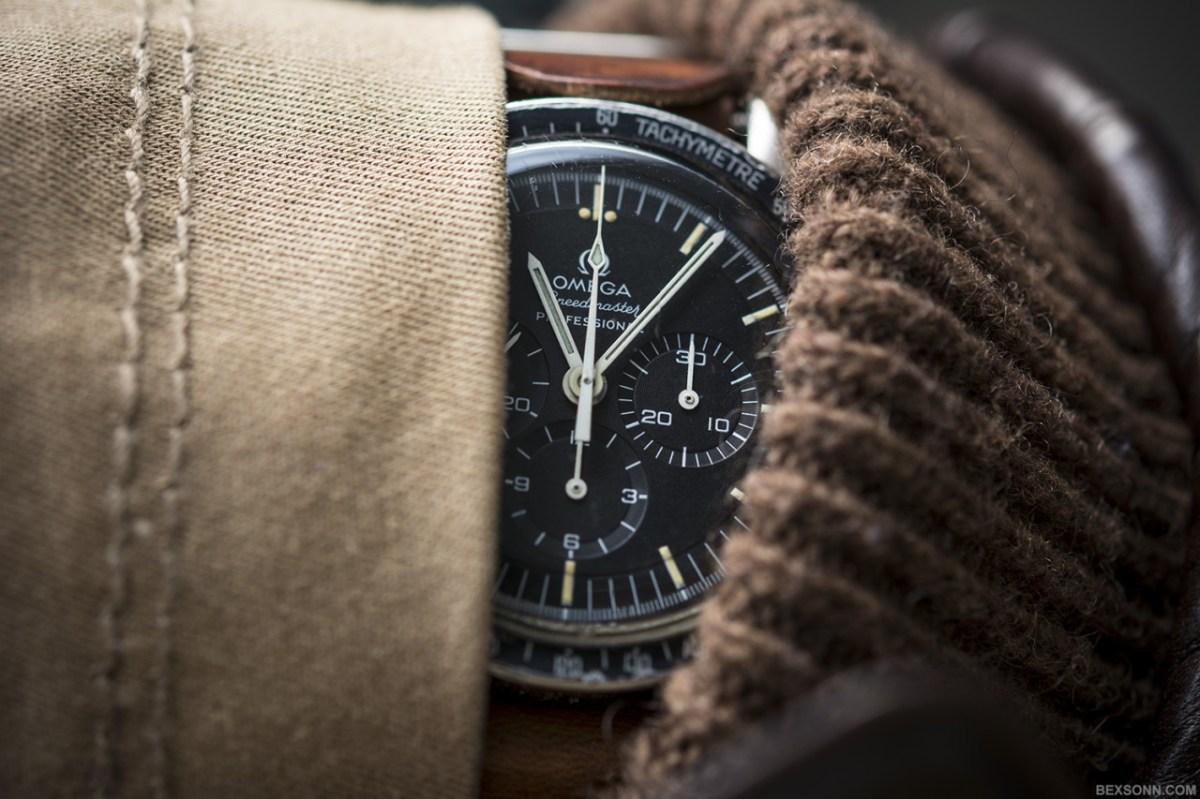 man wearing an omega watch
