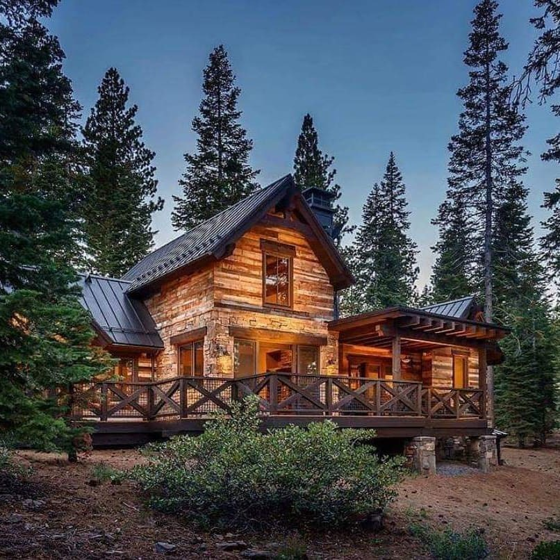 manly cabin in the woods