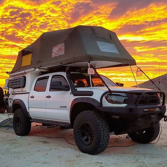 truck with tent
