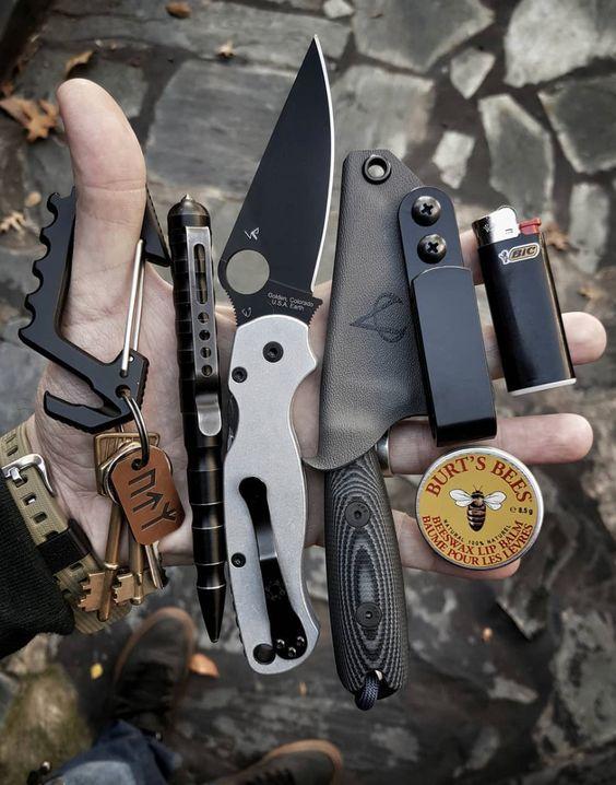 fixed blade and folding pocket knife edc