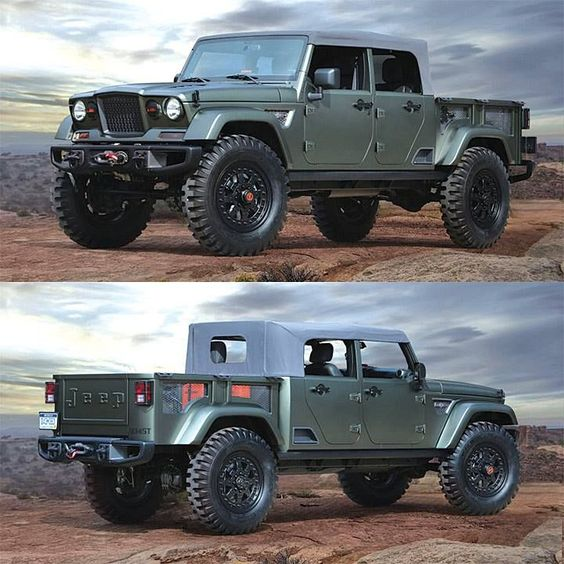 green jeep pickup