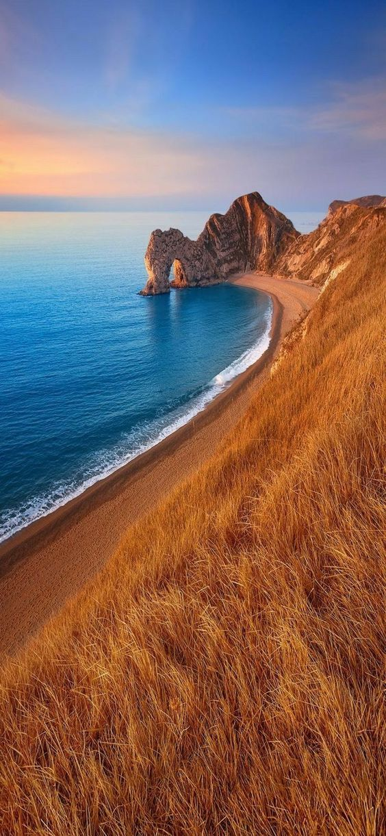 secluded beach scenery