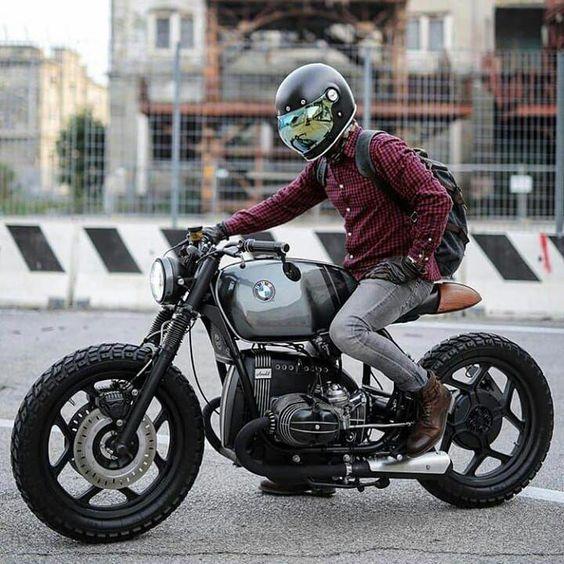 man on bmw motorcycle