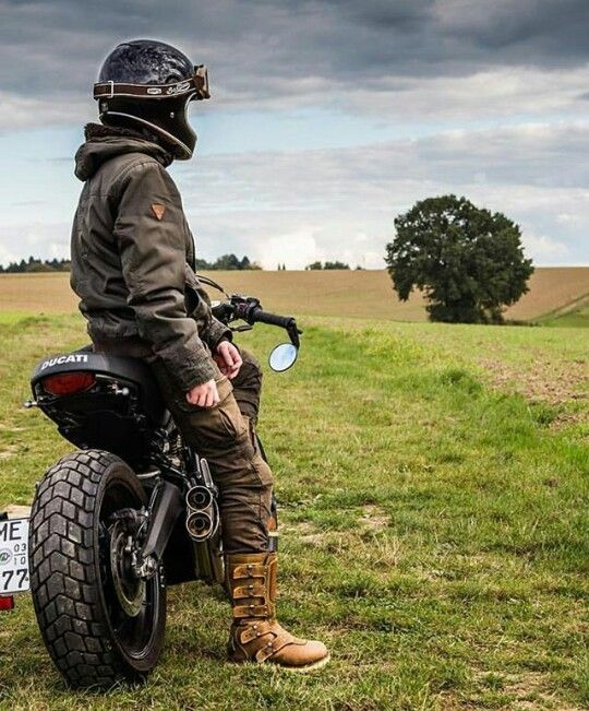 man on ducati motorcycle