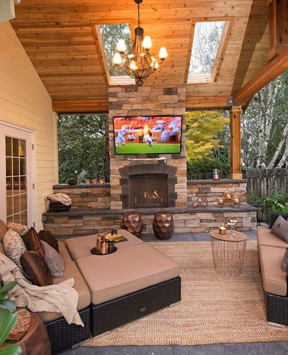 manly outdoor entertaining room