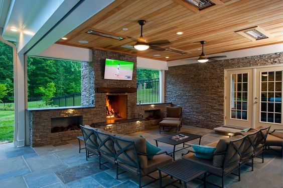 sharp looking outdoor entertaining room