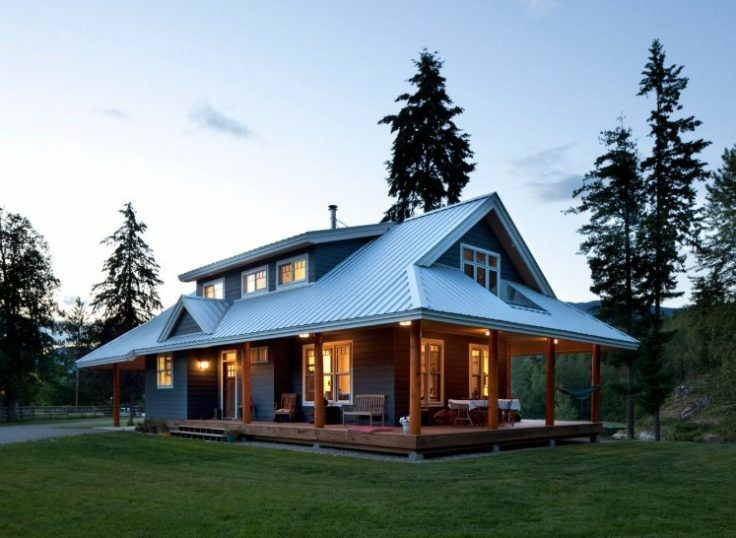 cabin style home in the country