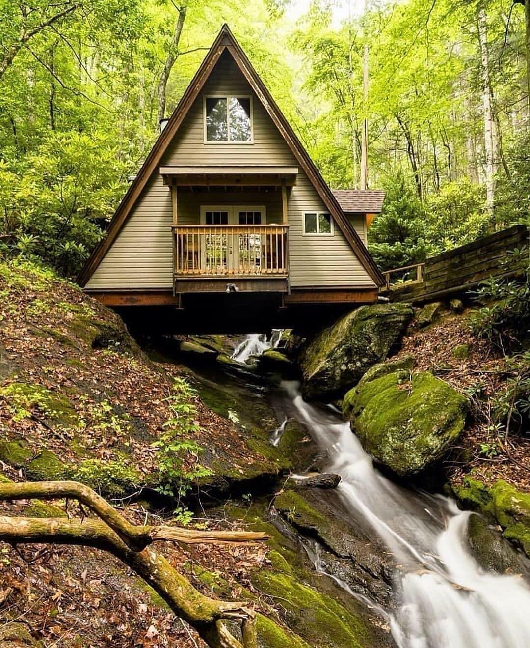 cabin over creek
