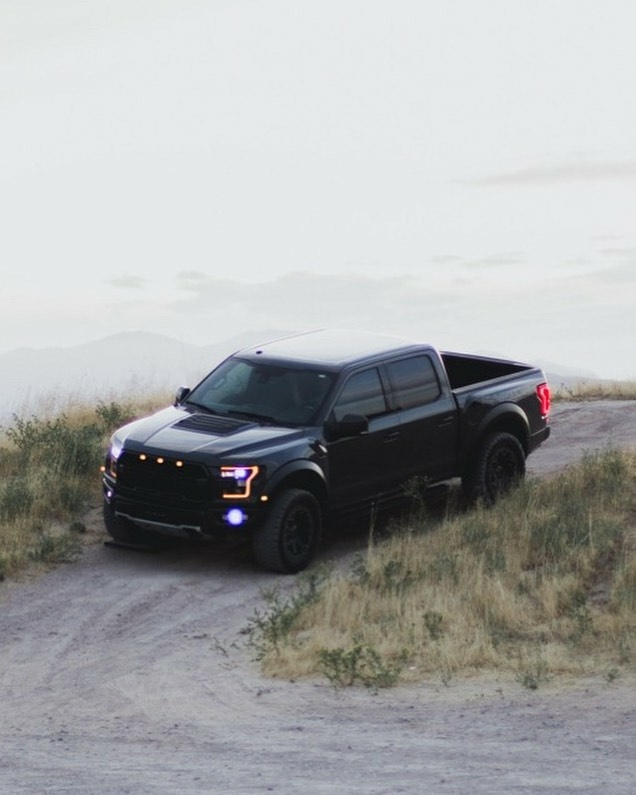 blacked out truck