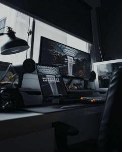 the manly life - dark pc setup