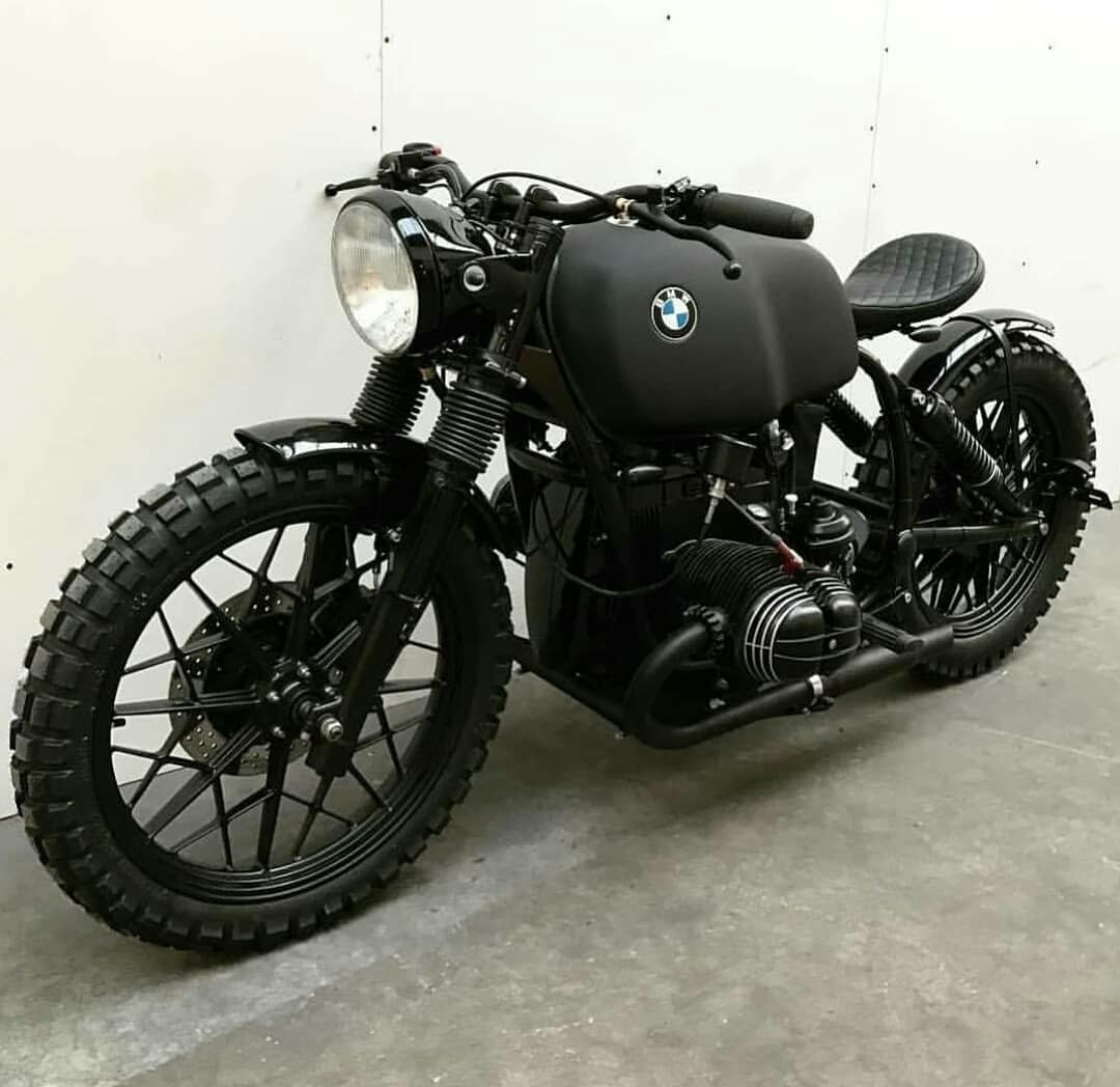 Blacked out BMW motorcycle