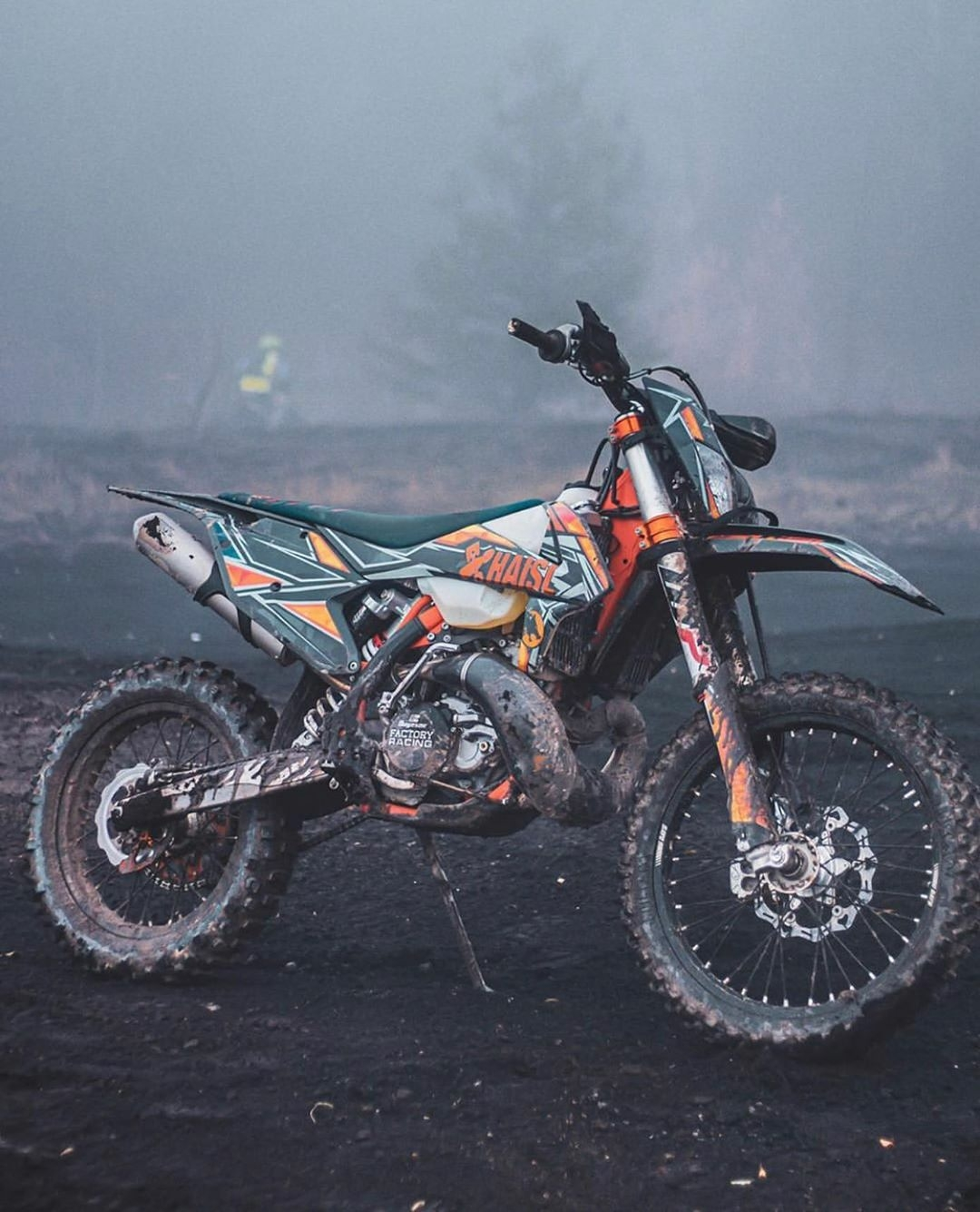 dirty dirt bike