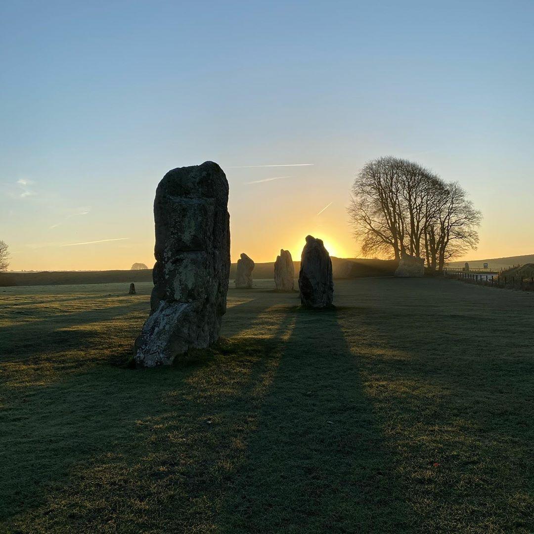 Sunrise at Avebury stone circle