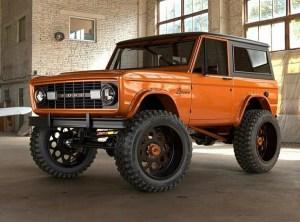 fully restored orange classic ford bronco