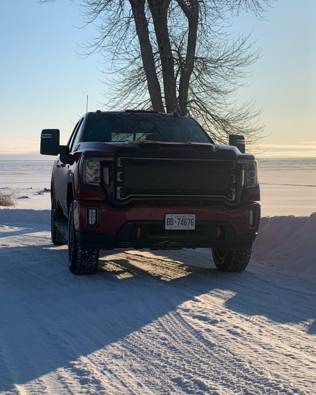 tough truck on the frozen tundra