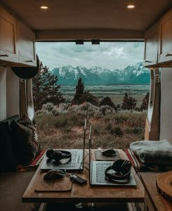 the manly life - nomad camper in wilderness