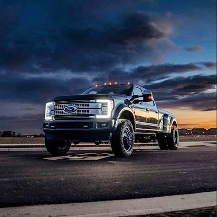 ford super duty and dramatic sky