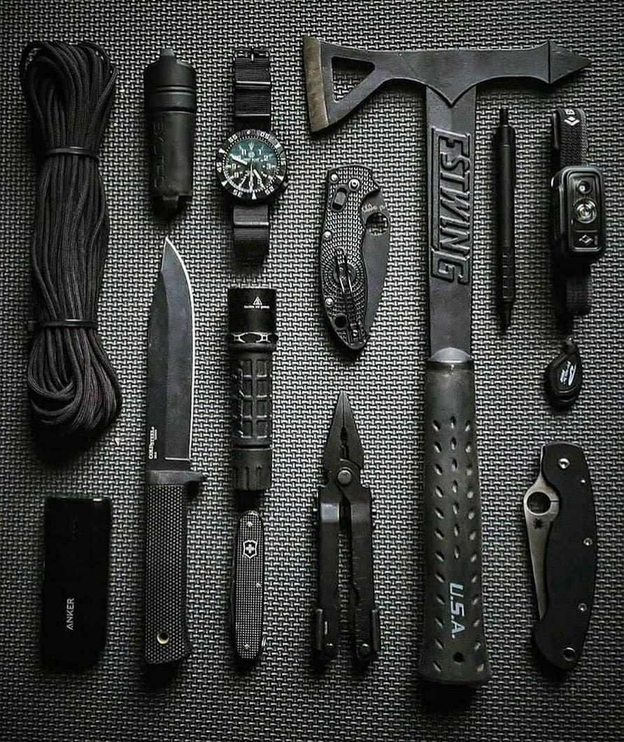 black and grey edc