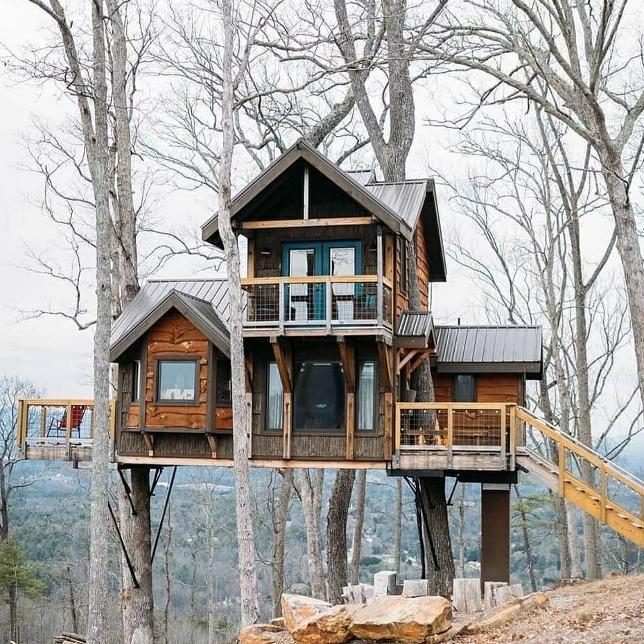 custom built tree house