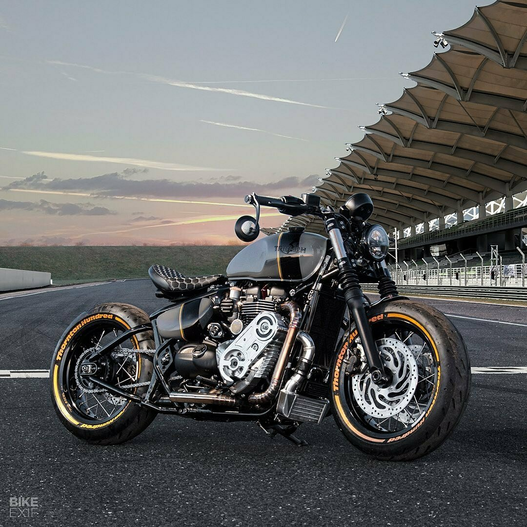 Supercharged Triump Bobber