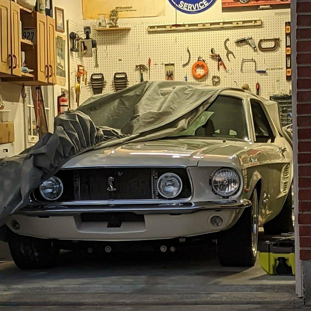67 Mustang Garage